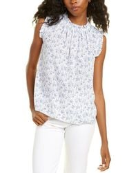 Cece By Cynthia Steffe Ruffled Toile Vines Top - White