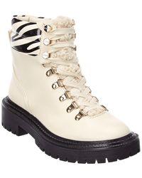 Circus by Sam Edelman Flora Combat Boot - White