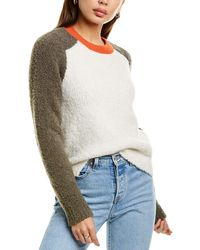 Rag & Bone Davis Wool Crew Oversized Midweight Sweater - Multicolor