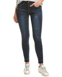William Rast Blue Violet Sculpted High-rise Ankle Skinny Jean