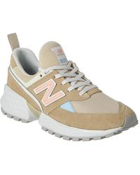 New Balance Fresh Foam 574 Sport V2 Leather & Mesh Trainer - Natural