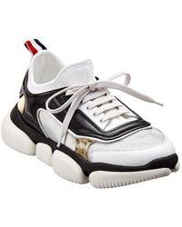 Moncler Leather Sneaker - Black