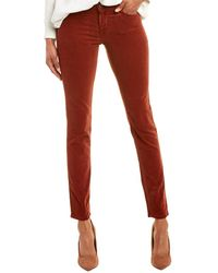 AG Jeans The Prima Tannic Red Corduroy Cigarette Leg