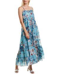 Diane von Furstenberg Julia Soft Voile Convertible Dress - Blue