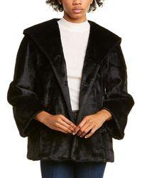 Cinzia Rocca Medium Plush Coat - Black