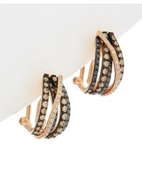 Effy - Fine Jewellery 14k Rose Gold 0.93 Ct. Tw. Diamond Hoops - Lyst