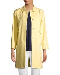 Piazza Sempione Mid-length Button-front Coat - Yellow