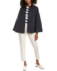 Brooks Brothers Trench Cape - Blue