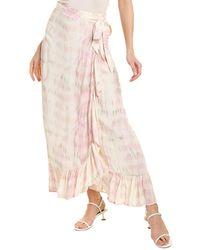 Dolan Mae Tie-dye Wrap Skirt - Pink