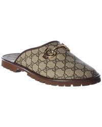 Gucci Leather Mule - Brown