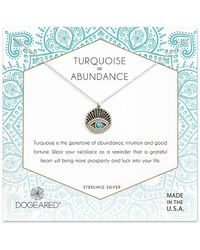 Dogeared - Silver Turquoise Necklace - Lyst
