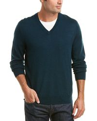 Brooks Brothers - Wool V-neck Jumper - Lyst