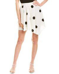 10 Crosby Derek Lam Asymmetrical Mini Skirt - White