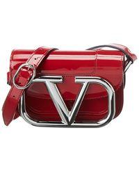 Valentino Garavani Supervee Small Patent Crossbody - Red