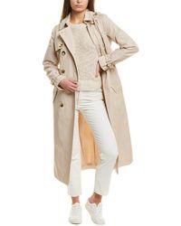 Tahari Laurie Trench Coat - Natural