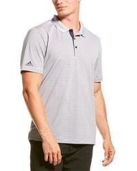 adidas Originals - Two-color Club Stripe Polo Shirt - Lyst