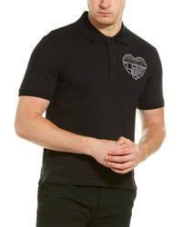 Valentino Studded Polo Shirt - Black