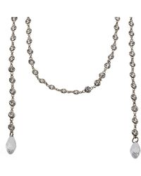 CZ by Kenneth Jay Lane - Plated 60in Necklace - Lyst