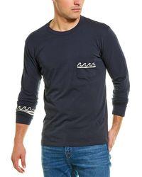 Chaser Wavy Stripes Pocket T-shirt - Blue