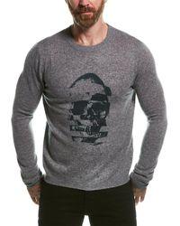 Autumn Cashmere Sliced Skull Wool & Cashmere-blend Sweater - Green