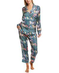 Karen Mabon 2pc Pyjama Shirt & Pant Set - Green