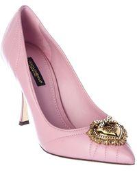 Dolce & Gabbana - Devotion Matelasse Leather Pump - Lyst