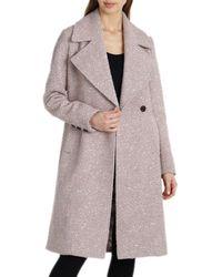 Badgley Mischka Boucle Coat - Multicolour
