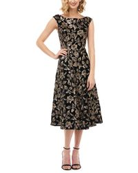 Kay Unger Midi Dress - Black