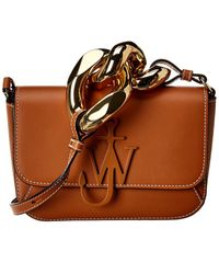 JW Anderson Jw Anderson Chain Midi Anchor Leather Shoulder Bag - Brown