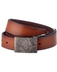 Robert Graham Holmes Reversible Leather Belt - Brown