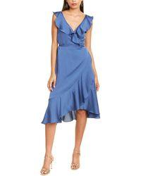 Fame & Partners The Alexa Wrap Dress - Blue