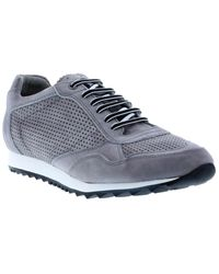 French Connection Fabron Leather Trainer - Grey