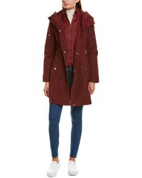 Laundry by Shelli Segal Smocked Raincoat - Red