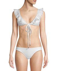 Mouillé Swimwear Two-piece Penelope Ruffled Bikini - White