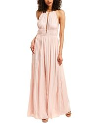 Halston Heritage Gown - Natural