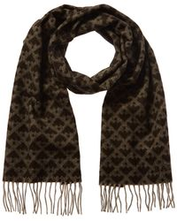 Bally Patterned Wool-blend Scarf - Gray