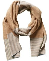 Portolano   Men's Tan Dorset Wool & Cashmere-blend Scarf   Lyst