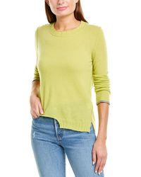 INHABIT Step Hem Cashmere Sweater - Yellow
