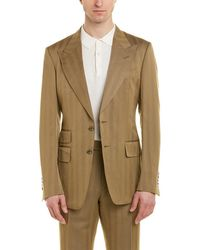 Tom Ford - Shelton 2pc Wool & Linen-blend Suit With Flat Pant - Lyst