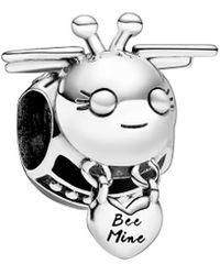 PANDORA Jewellery Silver Bee Mine Charm - Metallic