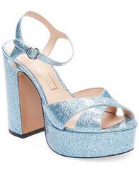 Marc Jacobs Glittered Platform Sandals - Blue