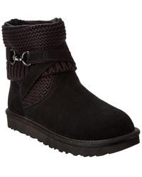 UGG - Purl Strap Suede Boot - Lyst