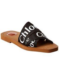 Chloé Woody Flat Mule - Black