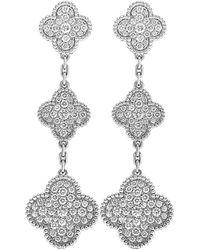 Van Cleef & Arpels 18k 4.25 Ct. Tw. Diamond Earrings - Multicolor