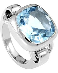 Poiray 18k 12.42 Ct. Topaz Ring - Blue