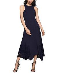 Reiss Romi Midi Dress - Blue