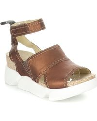 Fly London Sobe Leather Comfort Sandal - Brown