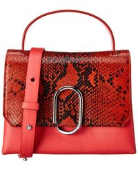 3.1 Phillip Lim Alix Mini Top Handle Leather Satchel - Red