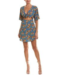 Amuse Society Floral Envy Dress. - Blue