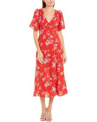Betsey Johnson Floral Shirtdress - Red